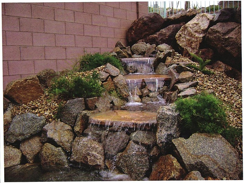 Ponds waterfalls fountains water features las vegas nv for Waterfall features for ponds